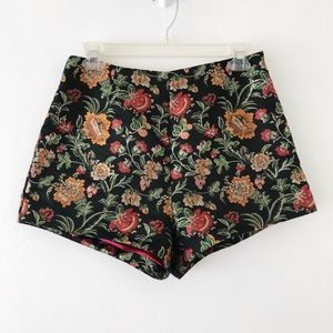 LOVERS + FRIENDS | Floral High Waisted Mini Shorts